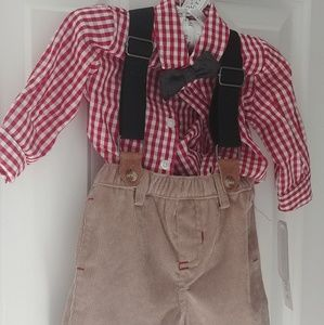 Other - Boys onsie outfit with attached bowtie